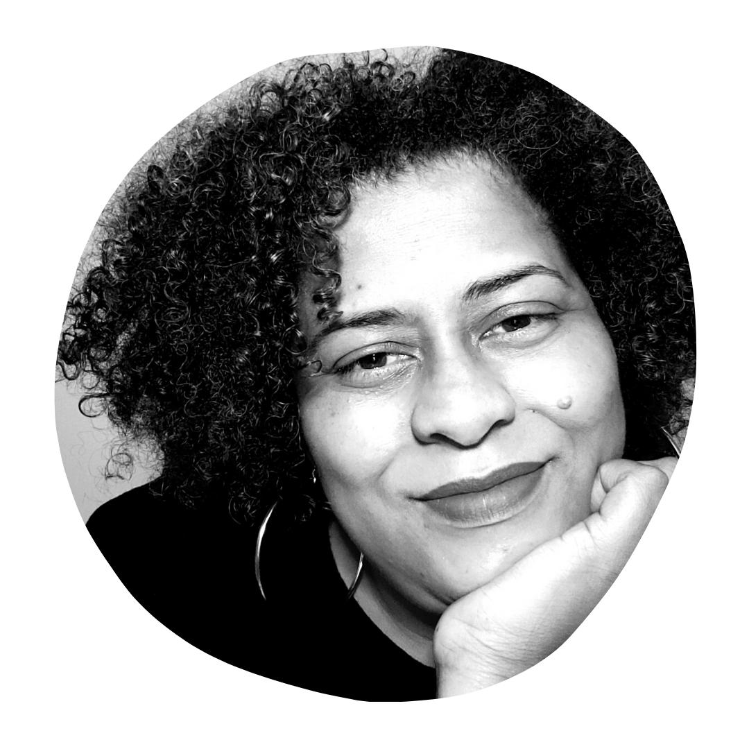 auntee rik headshot in black and white